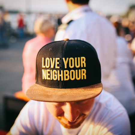 Love your neighbor hat